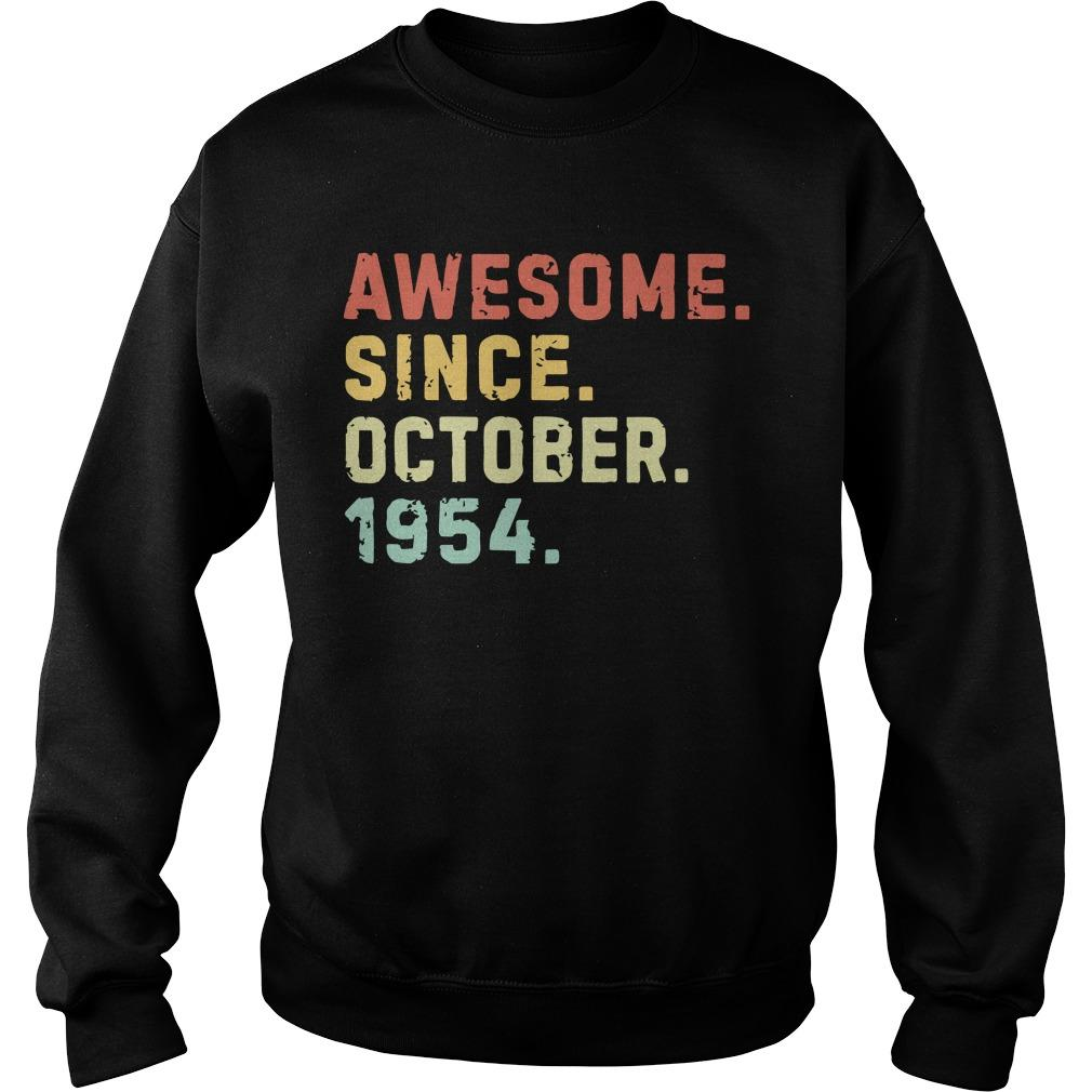 Vintage Awesome Since October 1954 Sweater