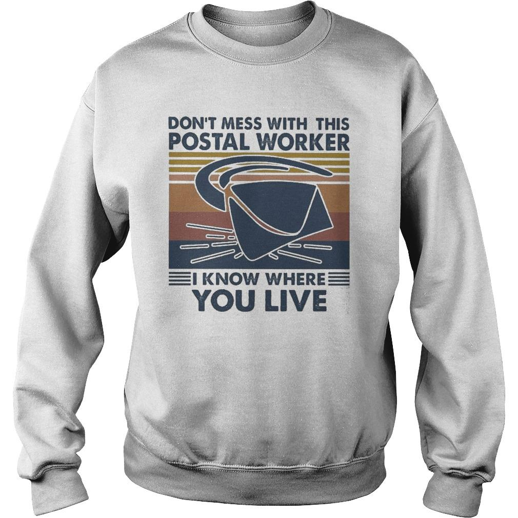 Vintage Don't Mess With This Postal Worker I Know Where You Live Sweater