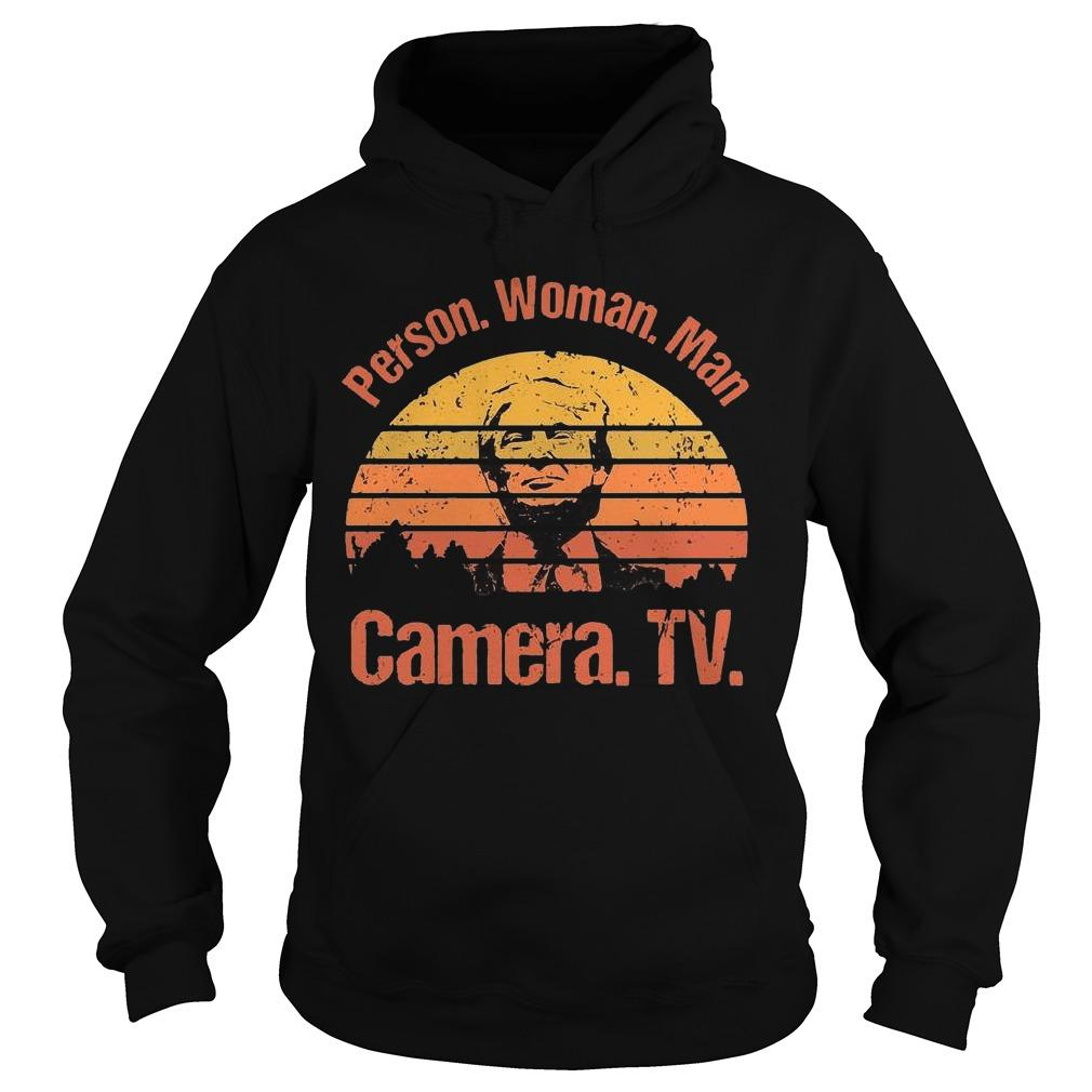 Vintage Donald Trump Person Woman Man Camera Tv Hoodie