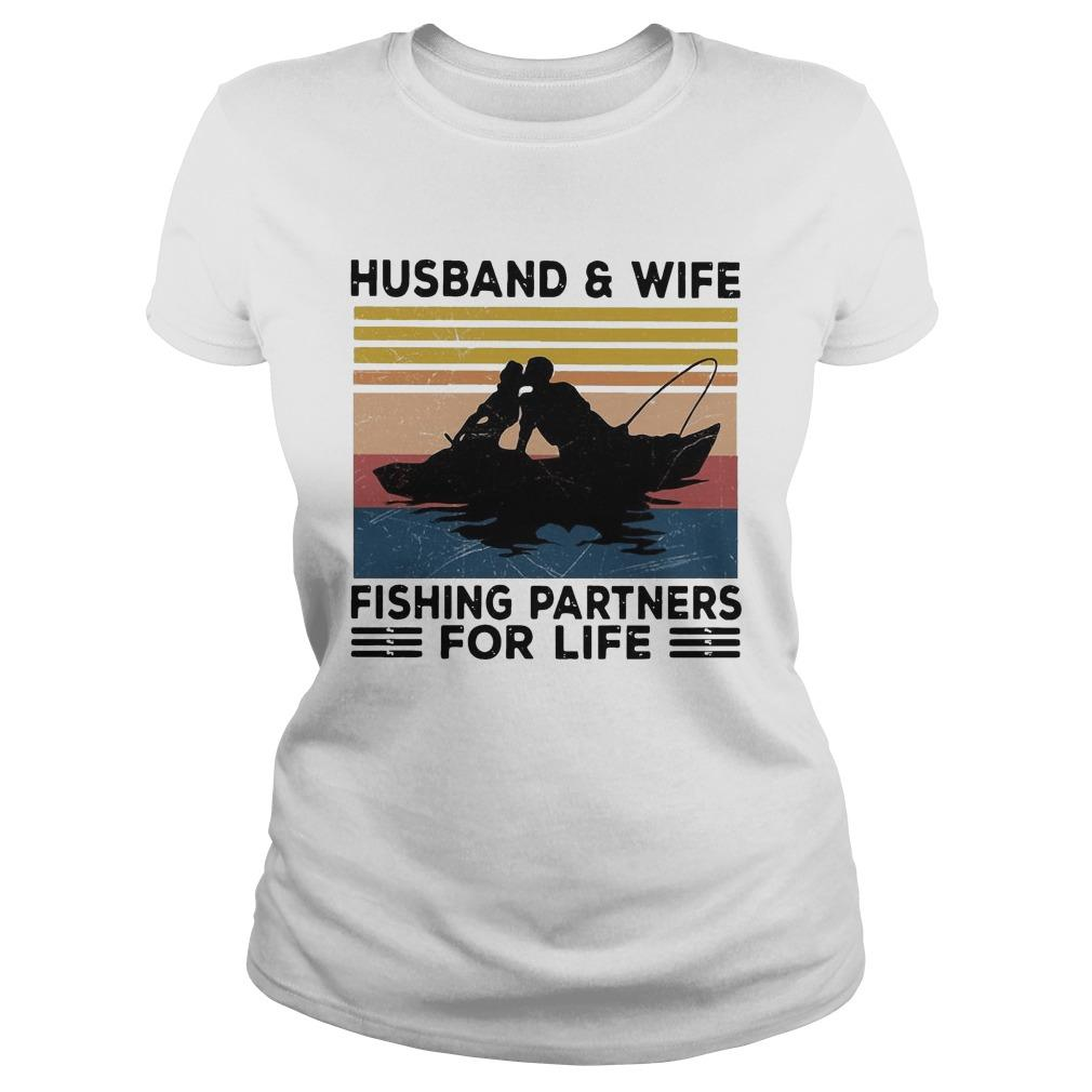 Vintage Husband And Wife Fishing Partners For Life Longsleeve