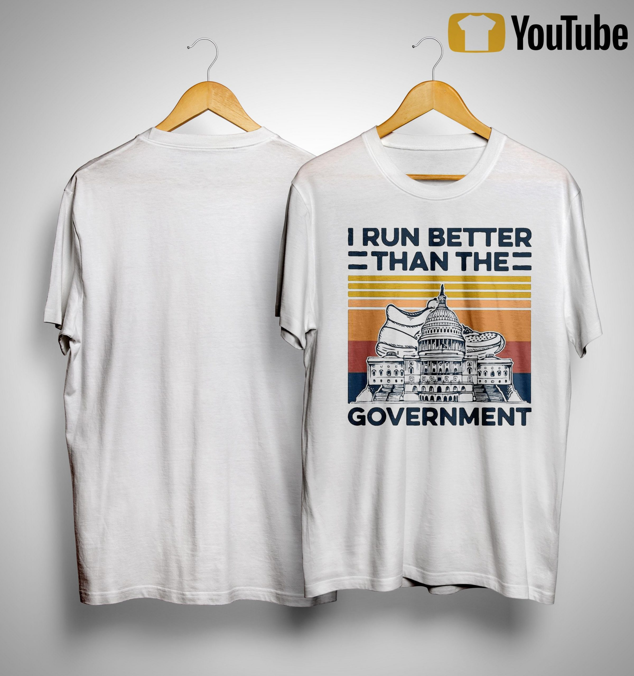 Vintage I Run Better Than The Government Shirt