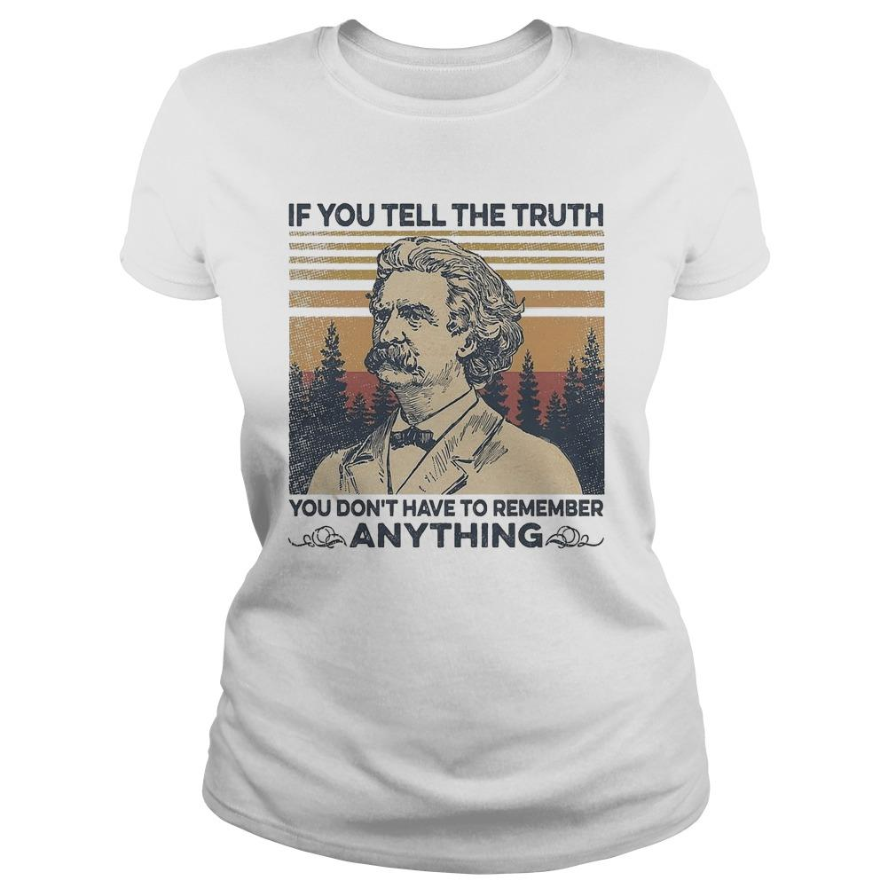 Vintage Mark Twain If You Tell The Truth You Don't Have To Remember Anything Sweater