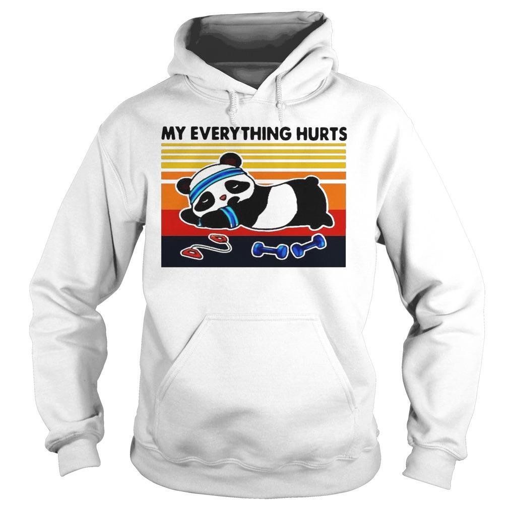 Vintage Panda Fitness My Everything Hurts Hoodie