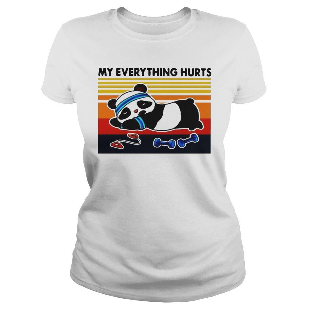 Vintage Panda Fitness My Everything Hurts Longsleeve