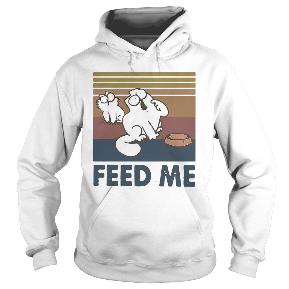 Vintage Simon's Cat Feed Me Hoodie