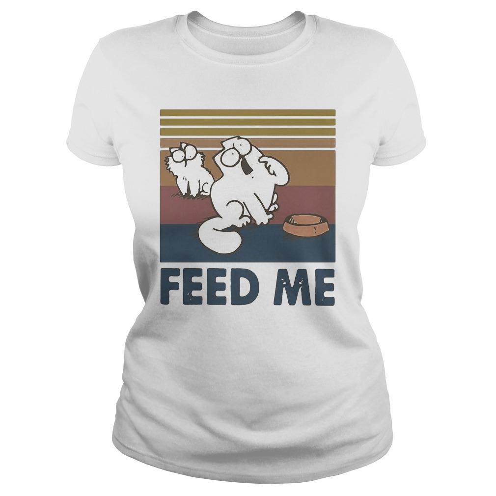 Vintage Simon's Cat Feed Me Longsleeve