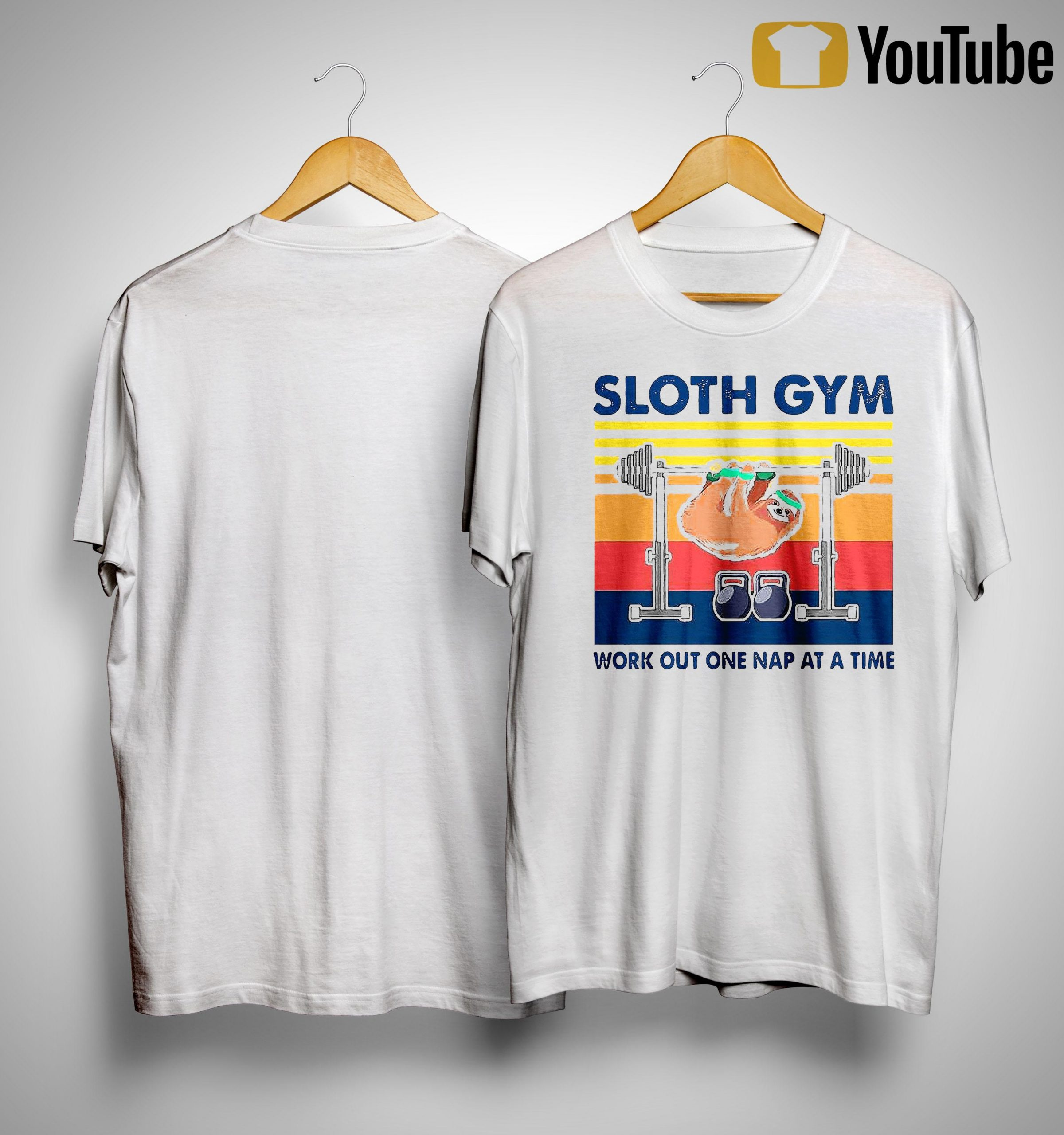 Vintage Sloth Gym Work Out One Nap At A Time Shirt