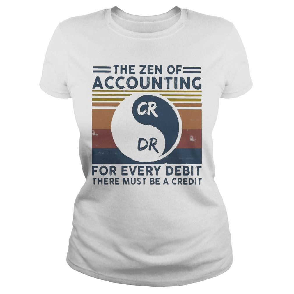 Vintage The Zen Of Accounting For Every Debit There Must Be A Credit Longsleeve