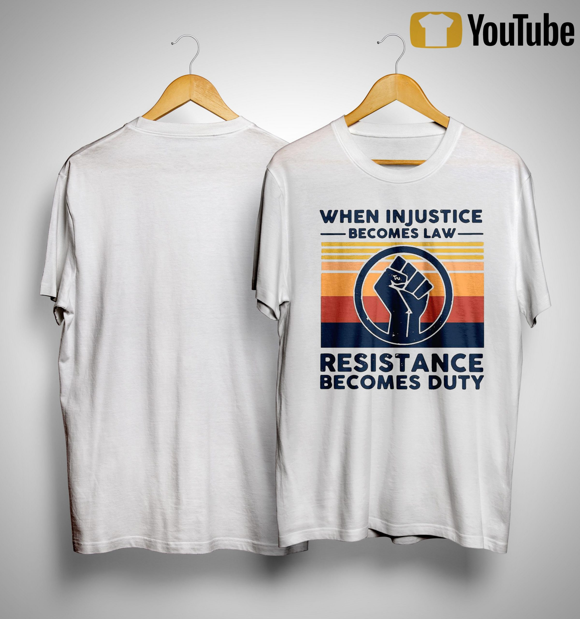 Vintage When Injustice Becomes Law Resistance Becomes Duty Shirt