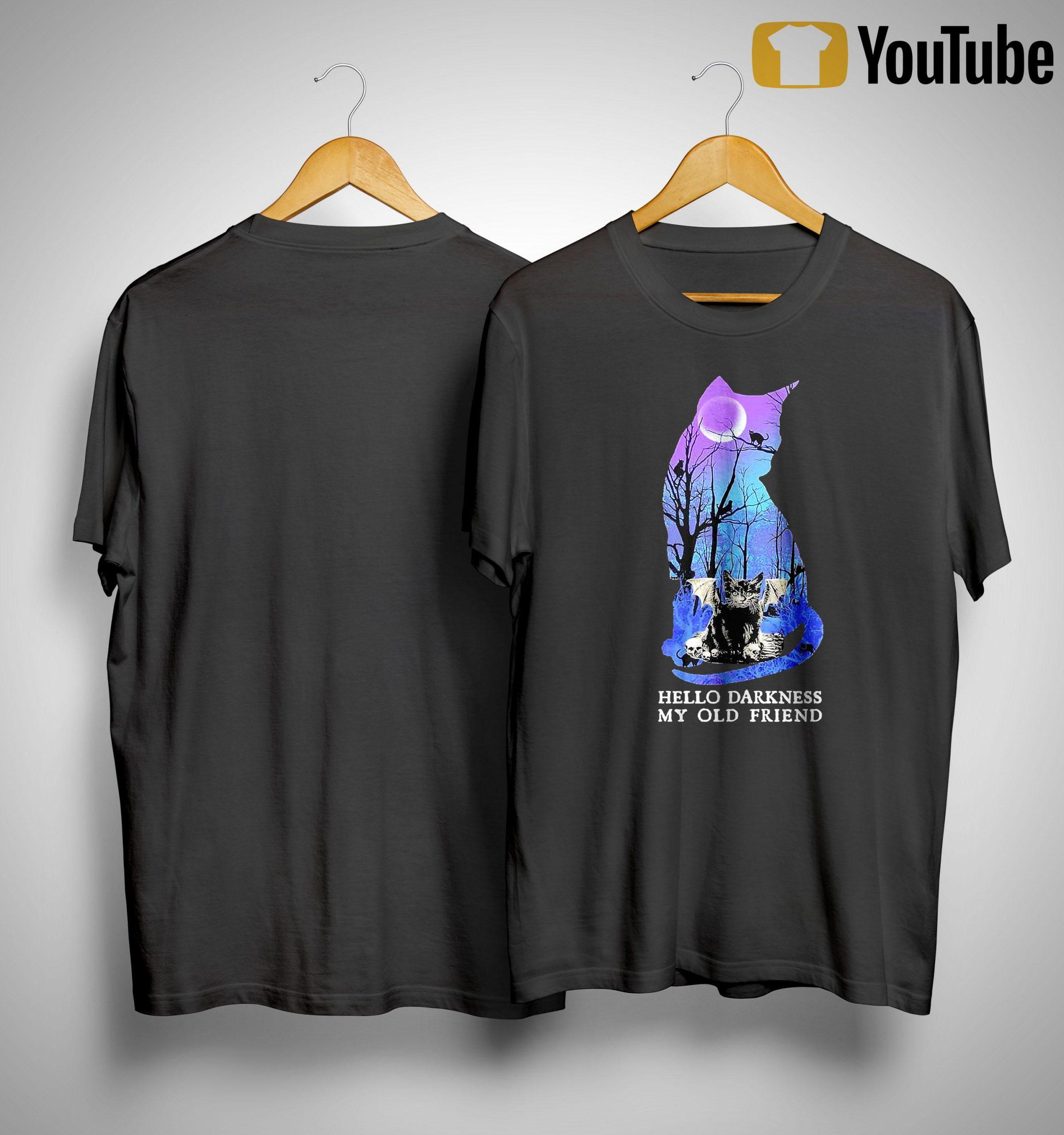 Bat Cats Hello Darkness My Old Friend Shirt