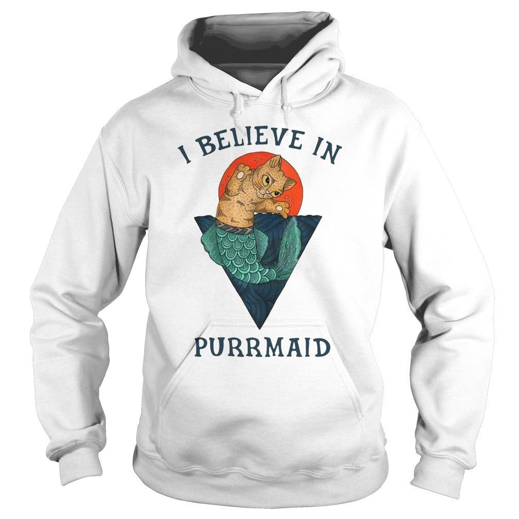 Cat I Believe In Purrmaid Hoodie