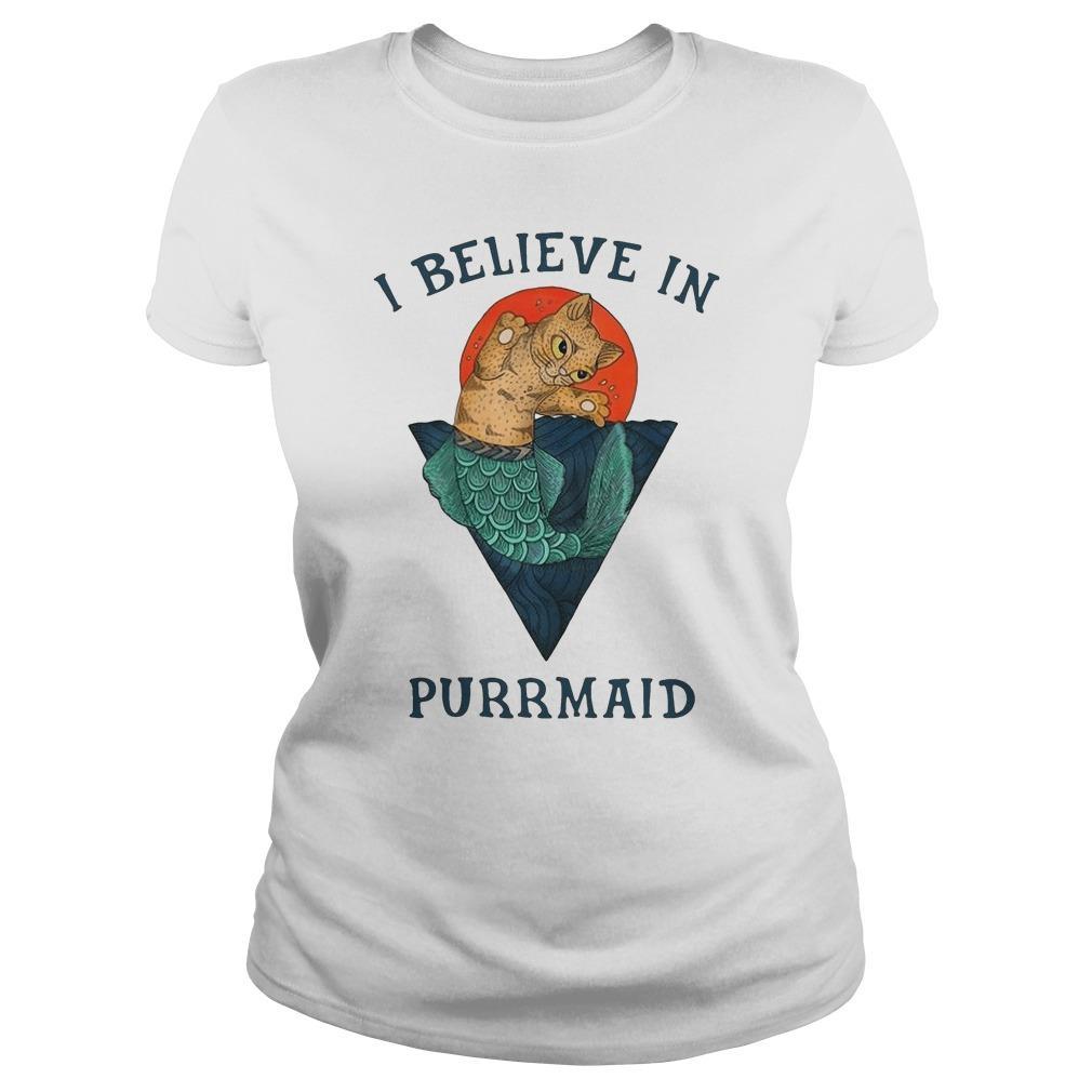 Cat I Believe In Purrmaid Longsleeve