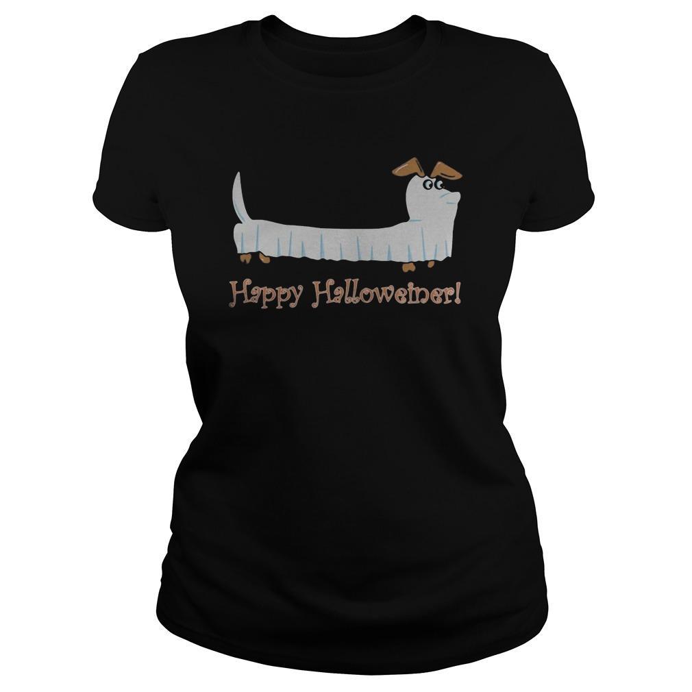 Dachshund Ghost Happy Halloweiner Hoodie