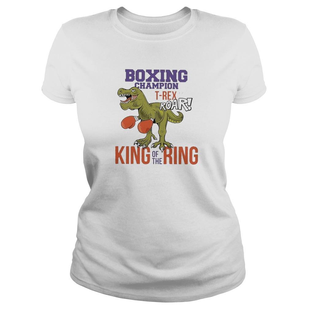 Dinosaur Boxing Champion T Rex Roar King Of The Ring Longsleeve