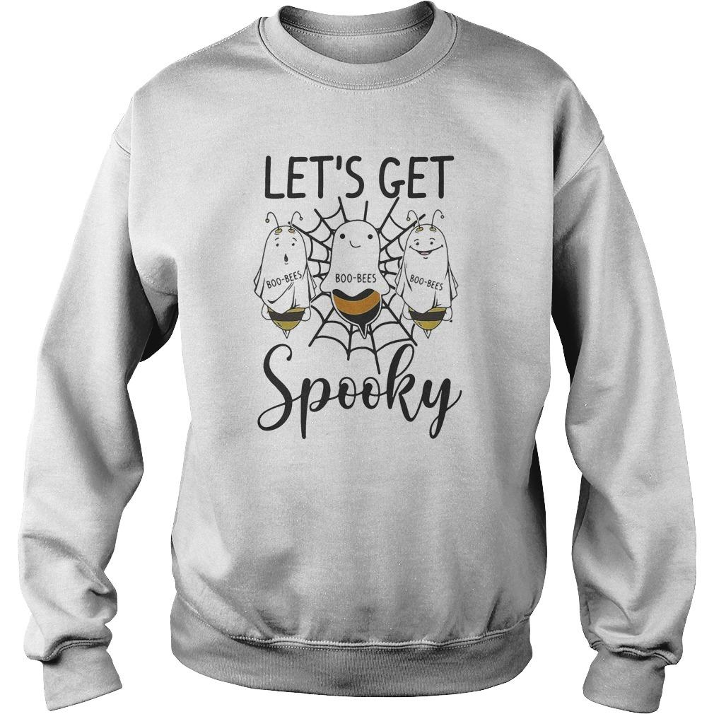 Halloween Boo Bees Let's Get Spooky Sweater