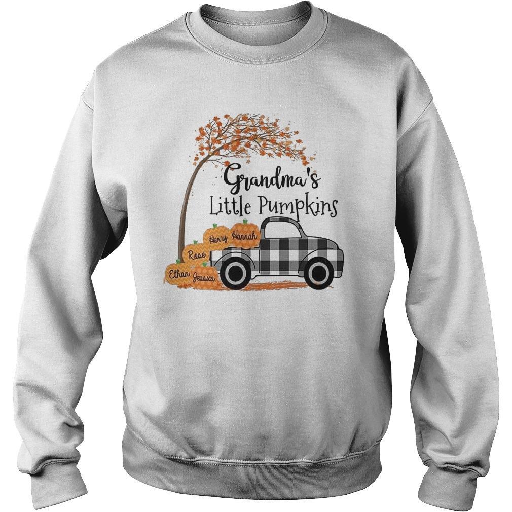 Halloween Grandma's Little Pumpkins Sweater