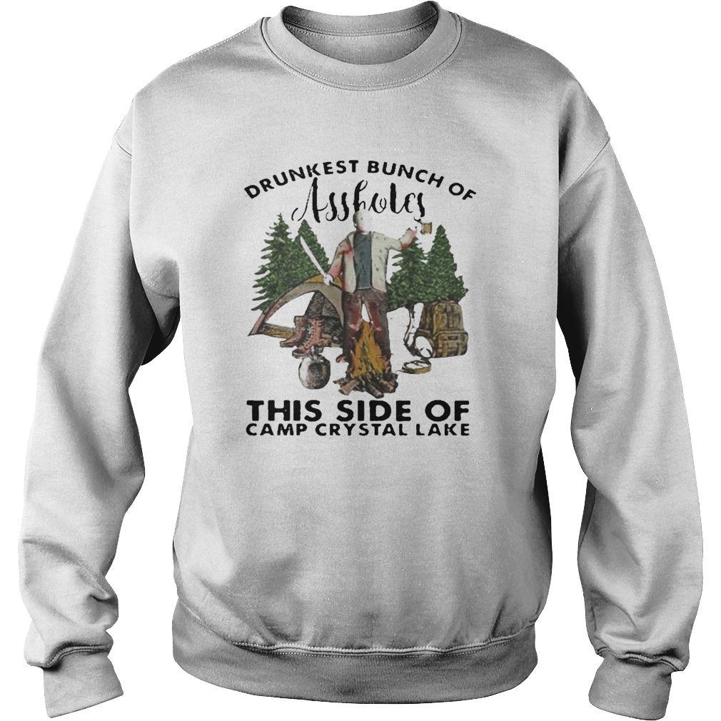 Halloween Jason Voorhees Drunkest Bunch Of Assholes This Side Sweater