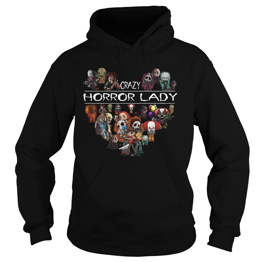 Horror Character Heart Crazy Horror Lady Hoodie