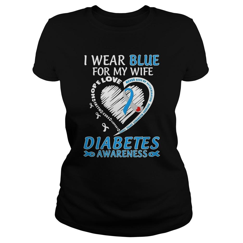 I Wear Blue For My Wife Diabetes Awareness Sweater