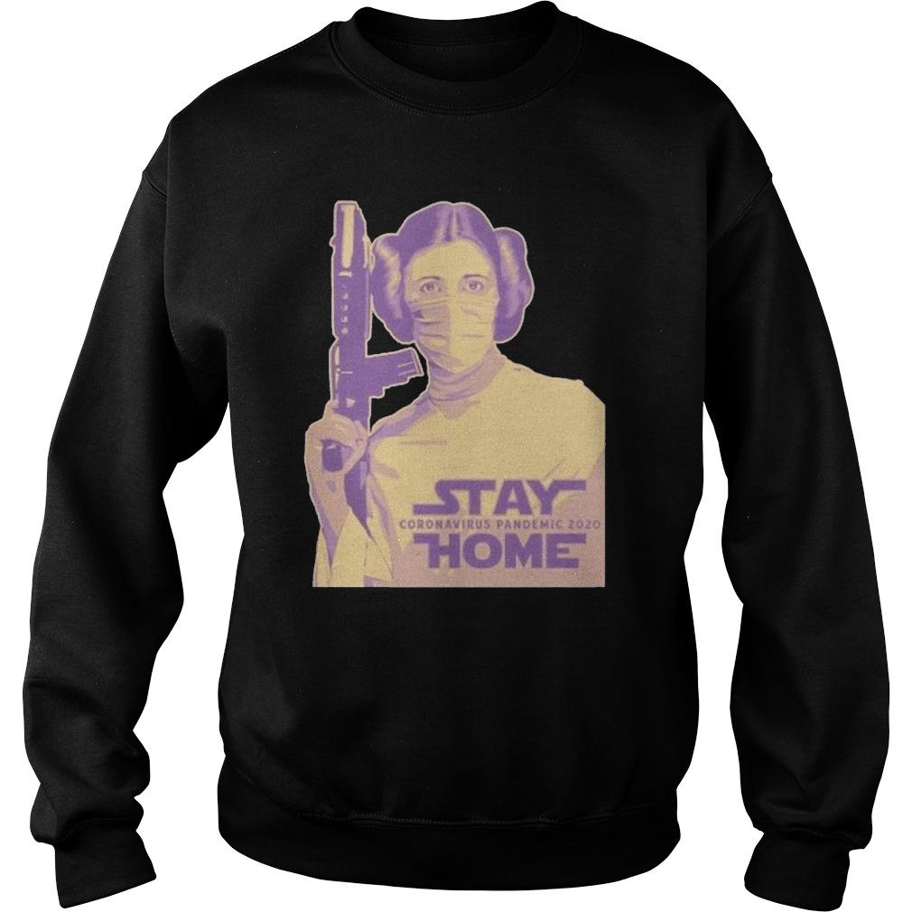 Leia Organa Face Mask Stay Coronavirus Pandemic 2020 Home Sweater