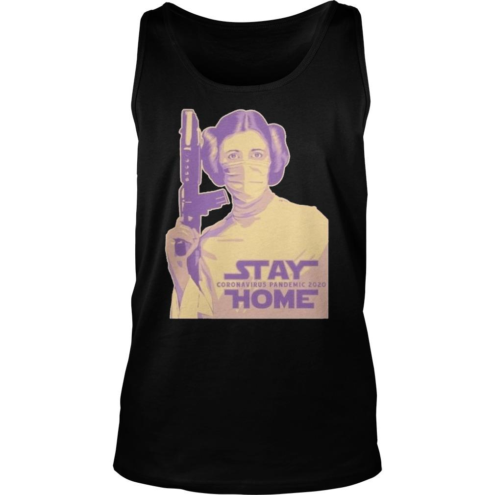 Leia Organa Face Mask Stay Coronavirus Pandemic 2020 Home Tank Top