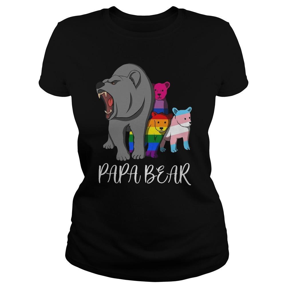 Lgbt Bear Angry Papa Bear Longsleeve