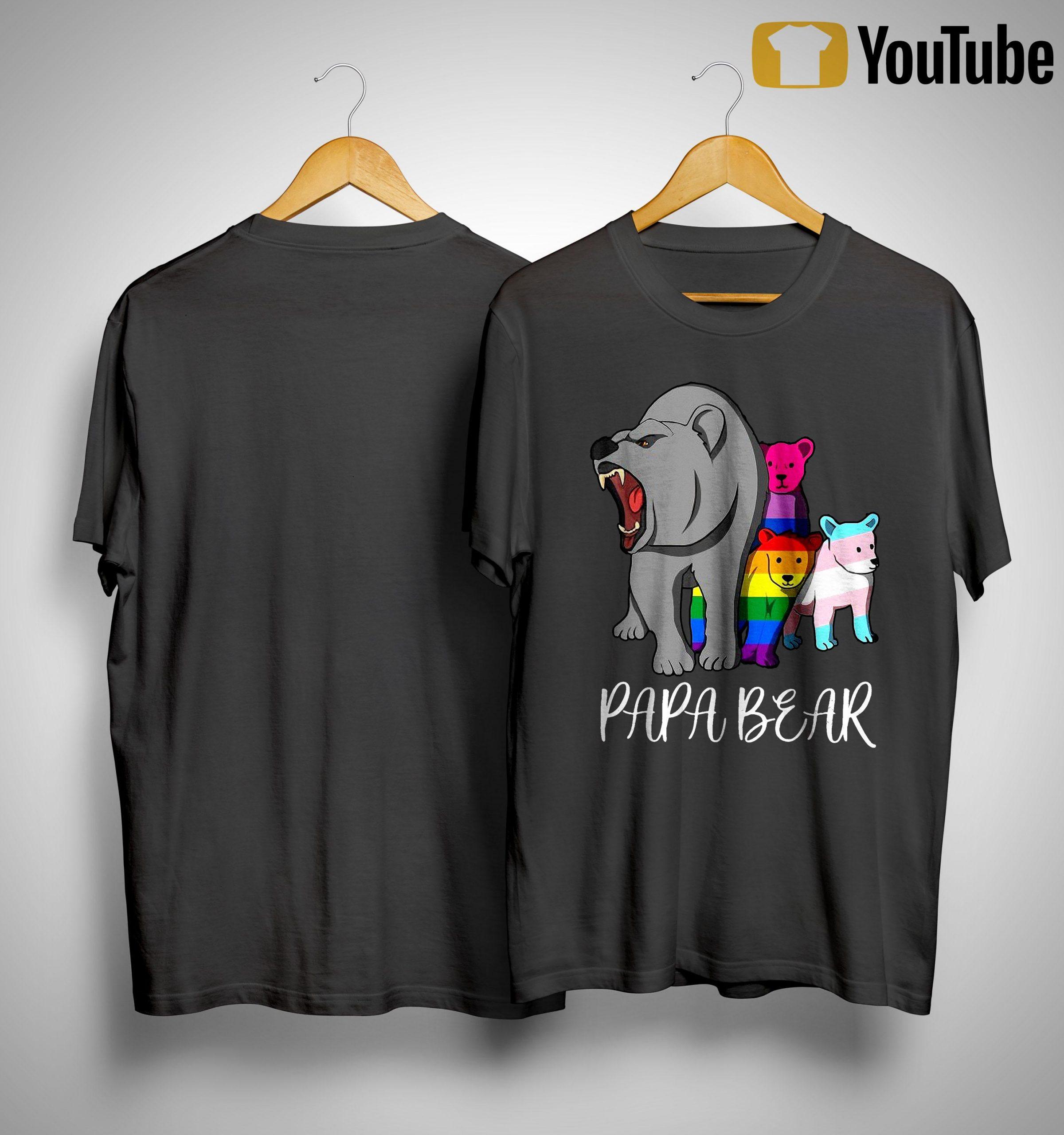 Lgbt Bear Angry Papa Bear Shirt