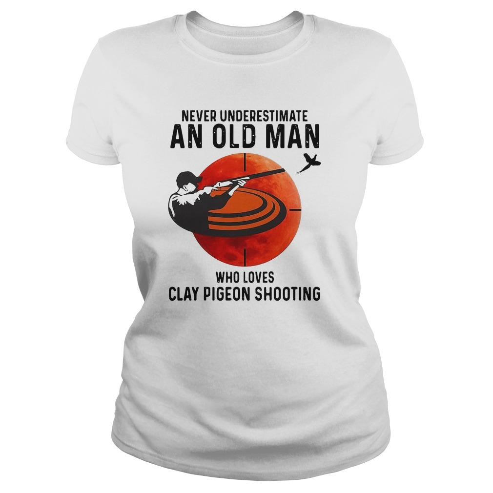 Never Underestimate An Old Man Who Loves Clay Pigeon Shooting Longsleeve