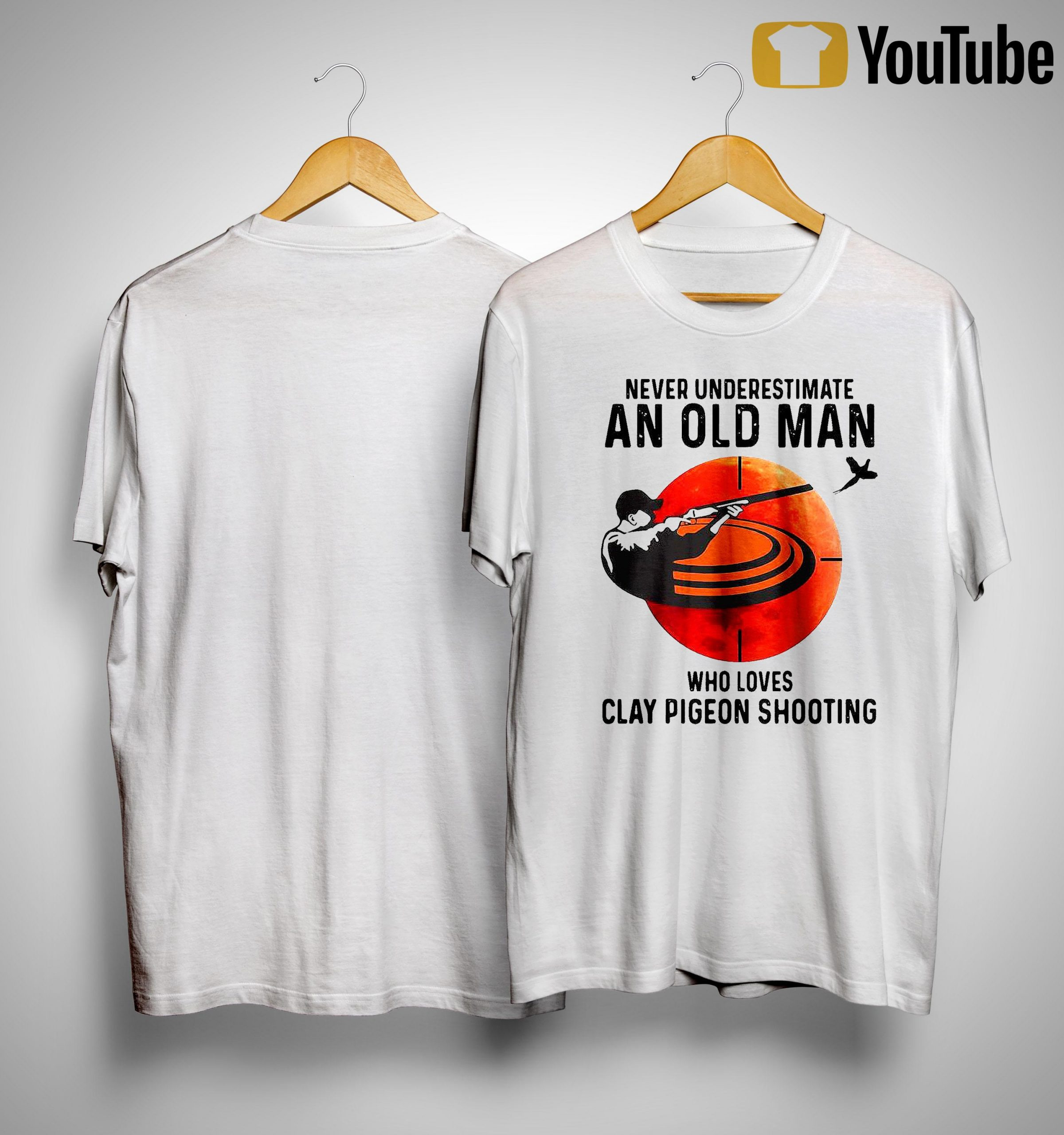 Never Underestimate An Old Man Who Loves Clay Pigeon Shooting Shirt