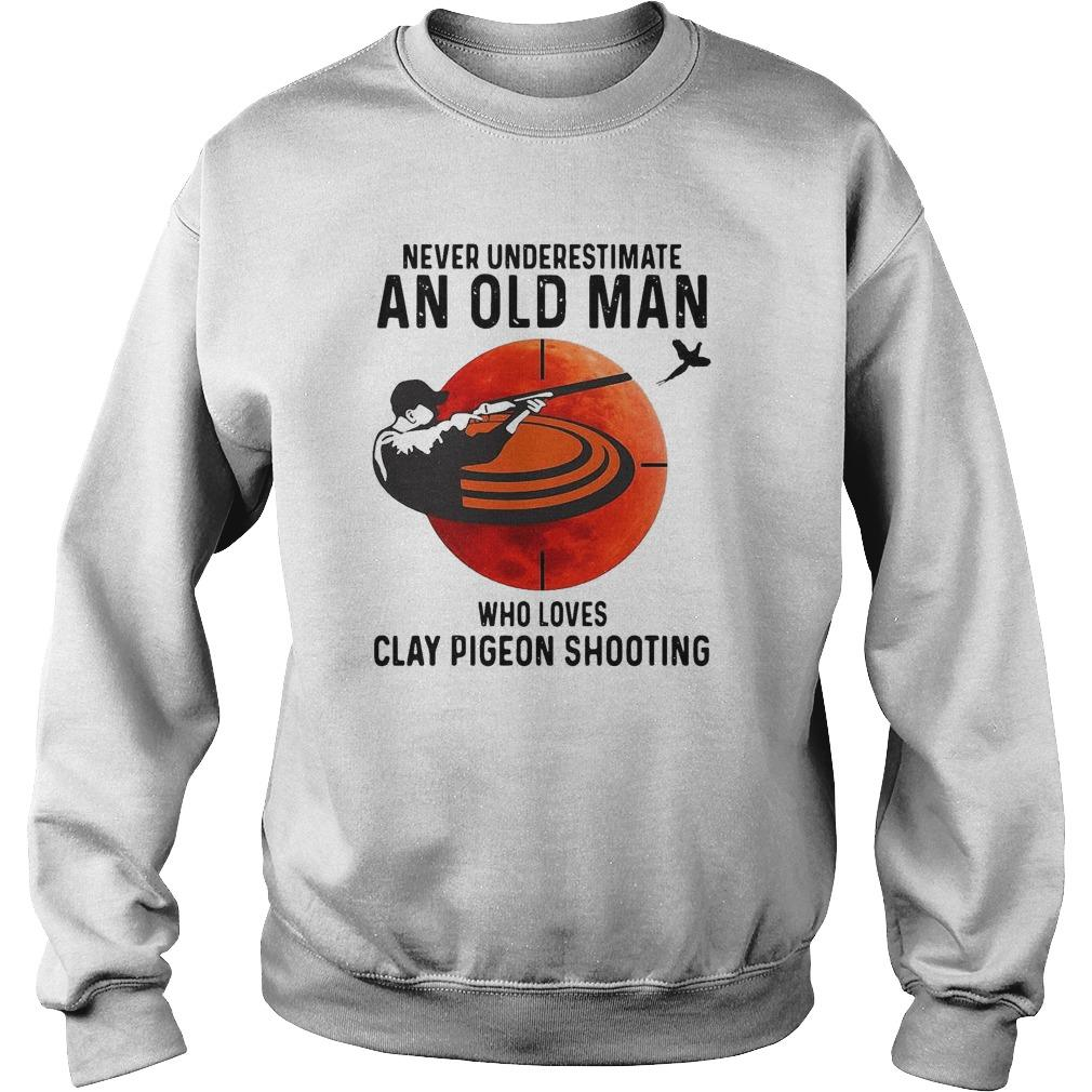 Never Underestimate An Old Man Who Loves Clay Pigeon Shooting Sweater