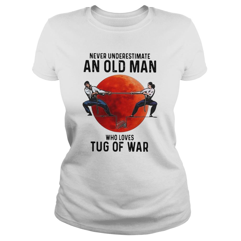 Never Underestimate An Old Man Who Loves Tug Of War Longsleeve