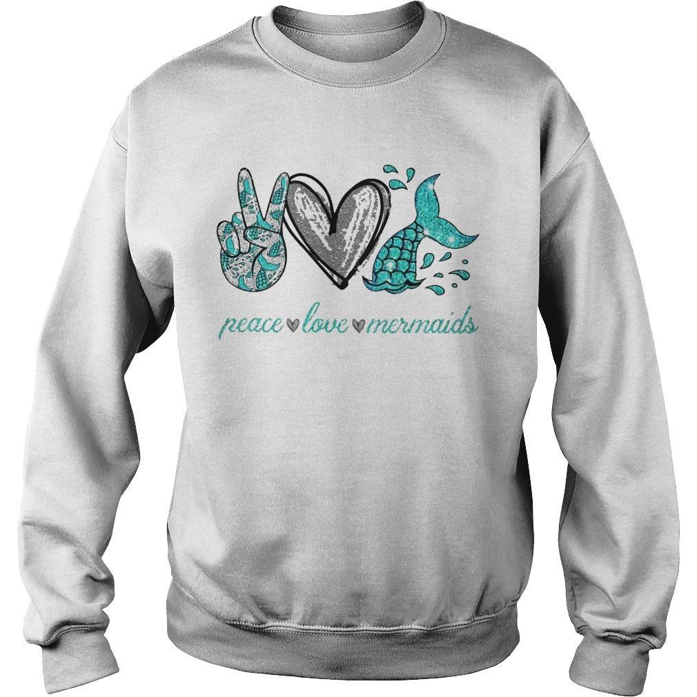 Peace Love And Mermaid Sweater