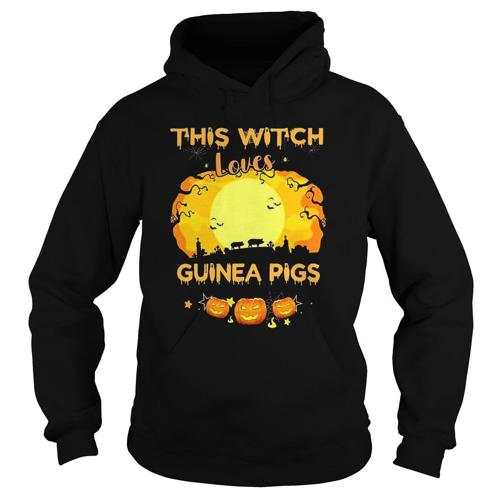 Pumpkin Halloween This Witch Loves Guinea Pigs Hoodie