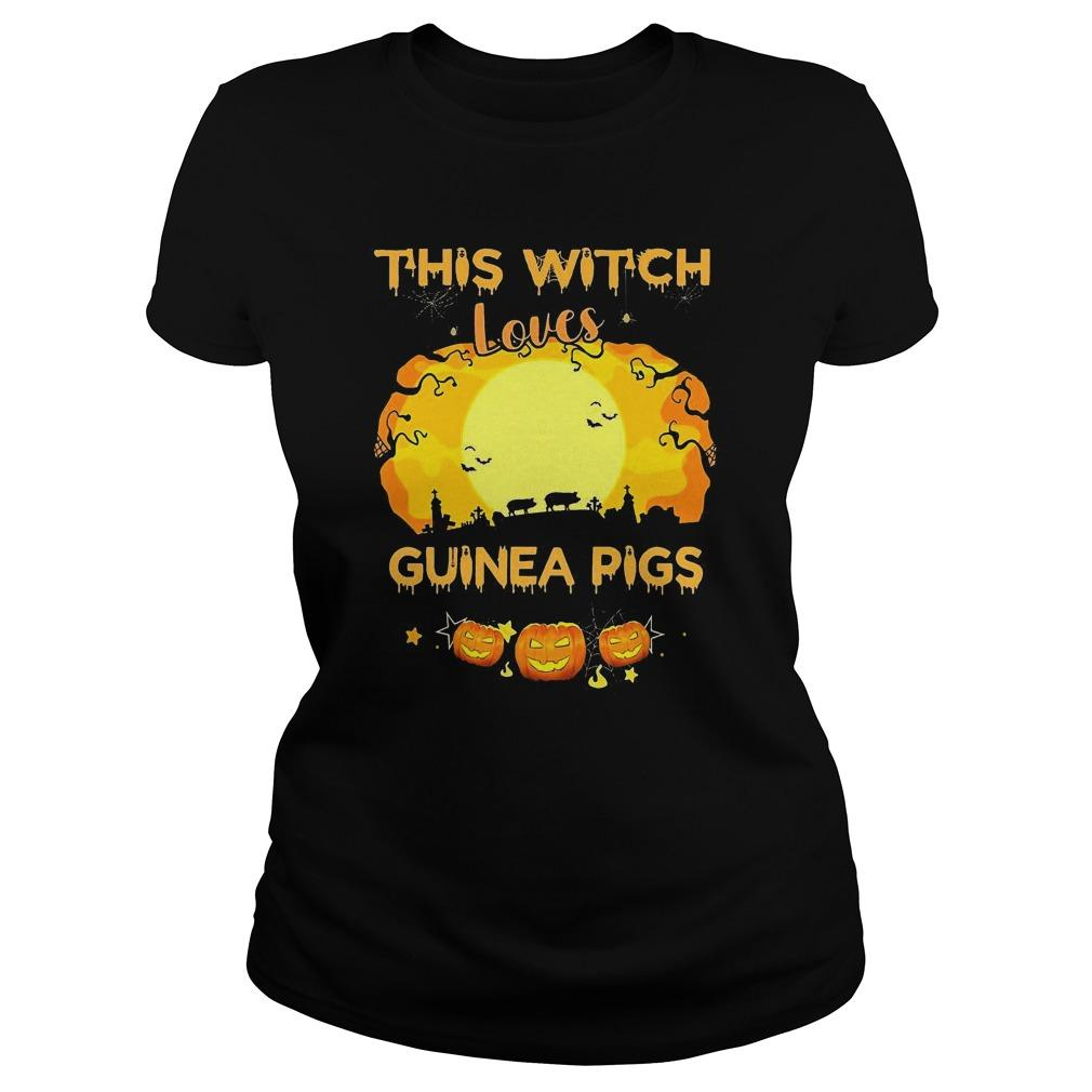 Pumpkin Halloween This Witch Loves Guinea Pigs Longsleeve