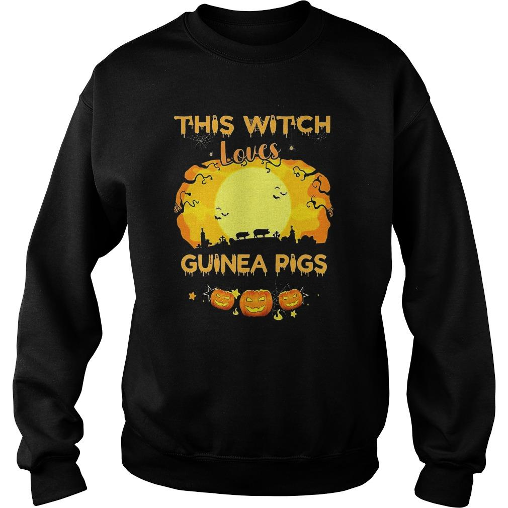Pumpkin Halloween This Witch Loves Guinea Pigs Sweater