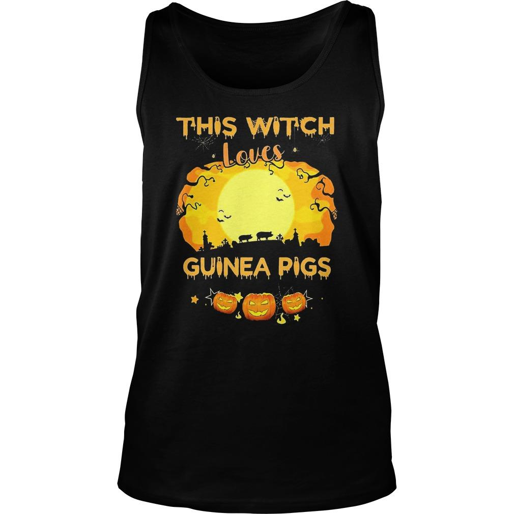 Pumpkin Halloween This Witch Loves Guinea Pigs Tank Top