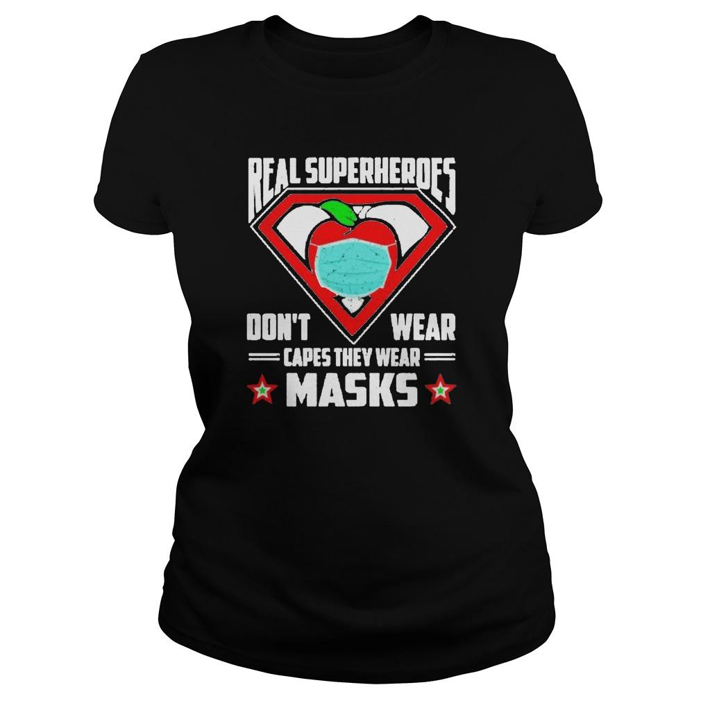 Real Superheroes Don't Wear Capes They Wear Masks Tank Top