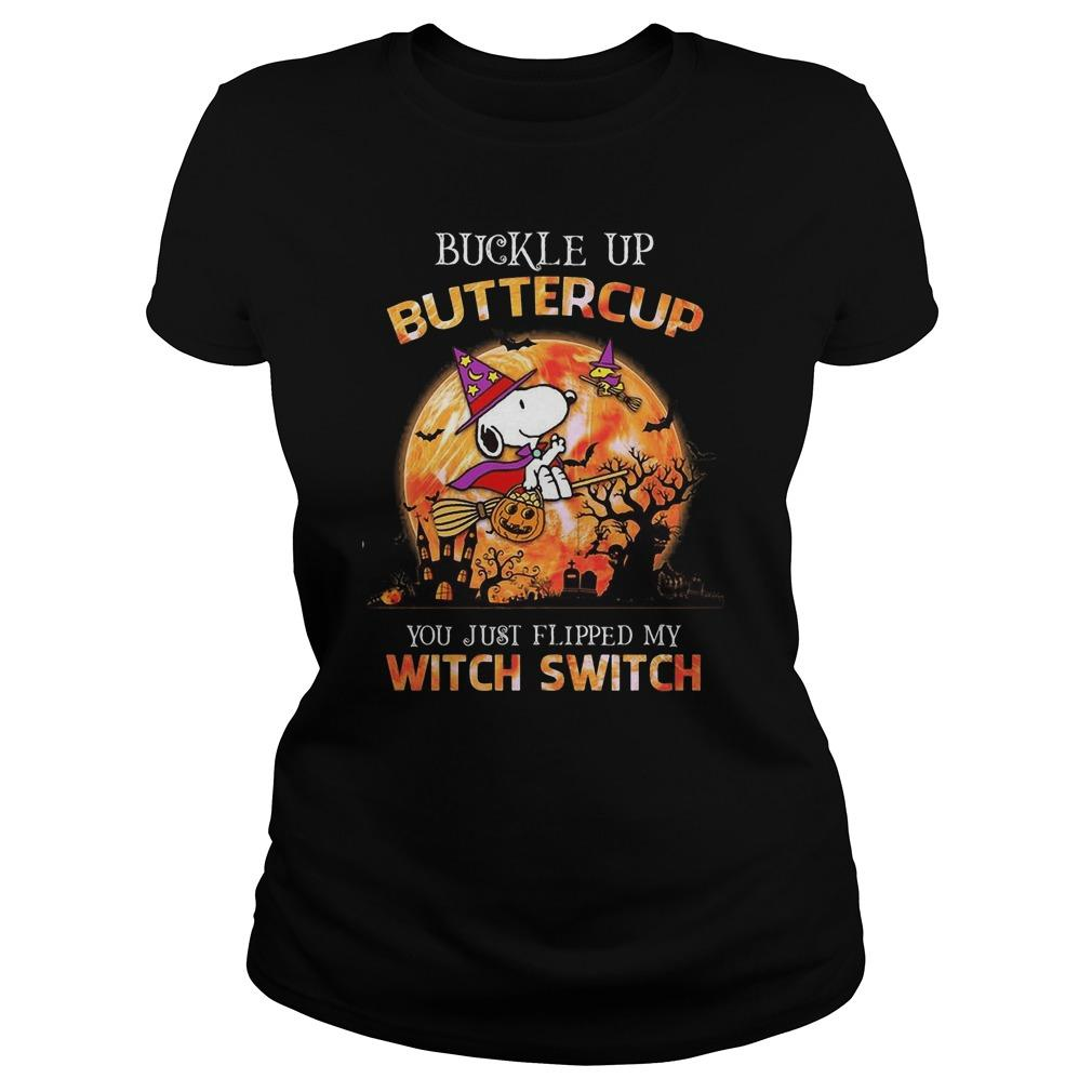 Snoopy Buckle Up Buttercup You Just Flipped My Witch Switch Sweater