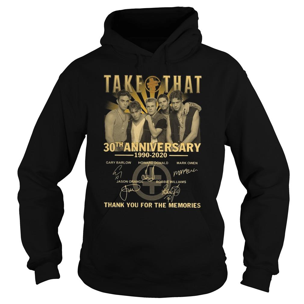 Take That 30th Anniversary Thank You For The Memories Hoodie