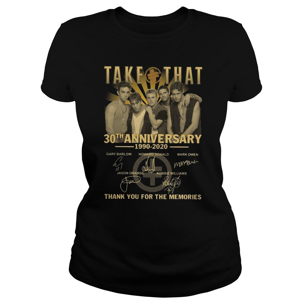 Take That 30th Anniversary Thank You For The Memories Longsleeve