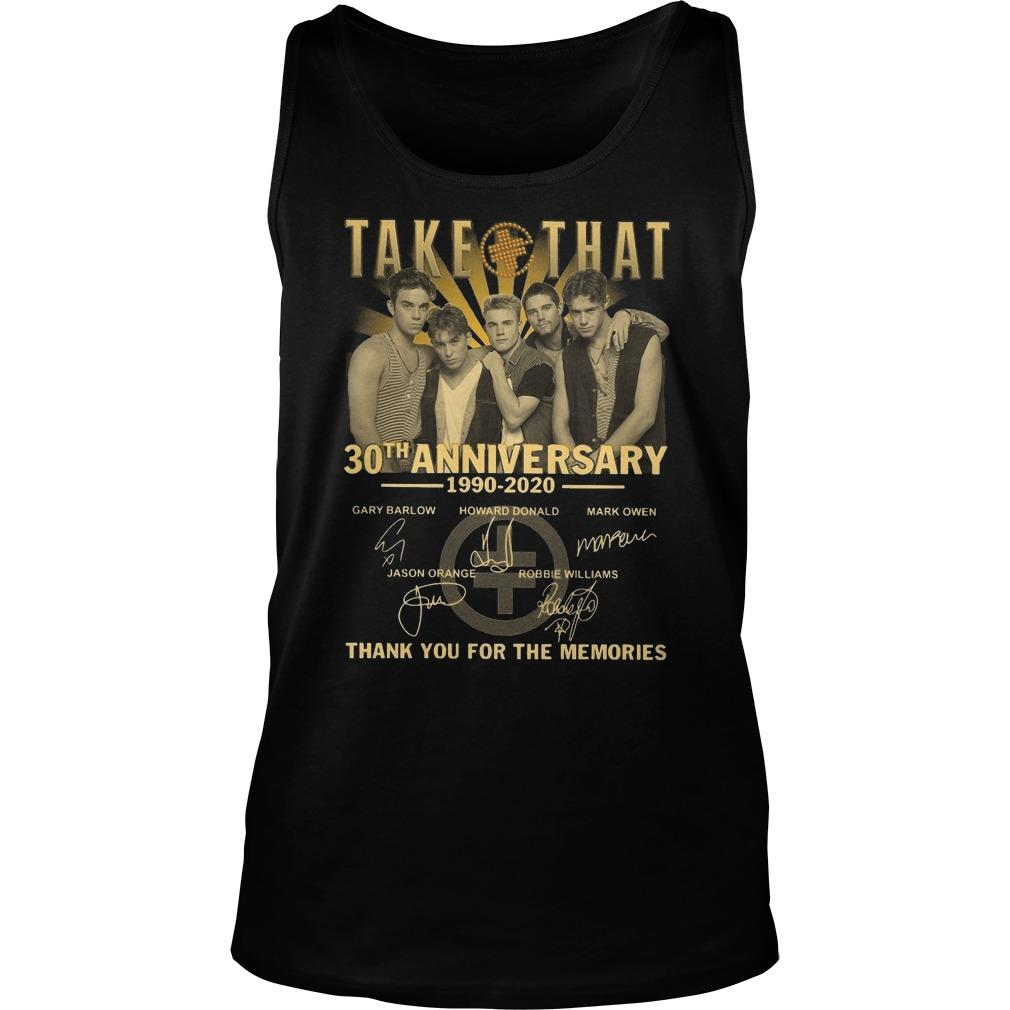 Take That 30th Anniversary Thank You For The Memories Tank Top