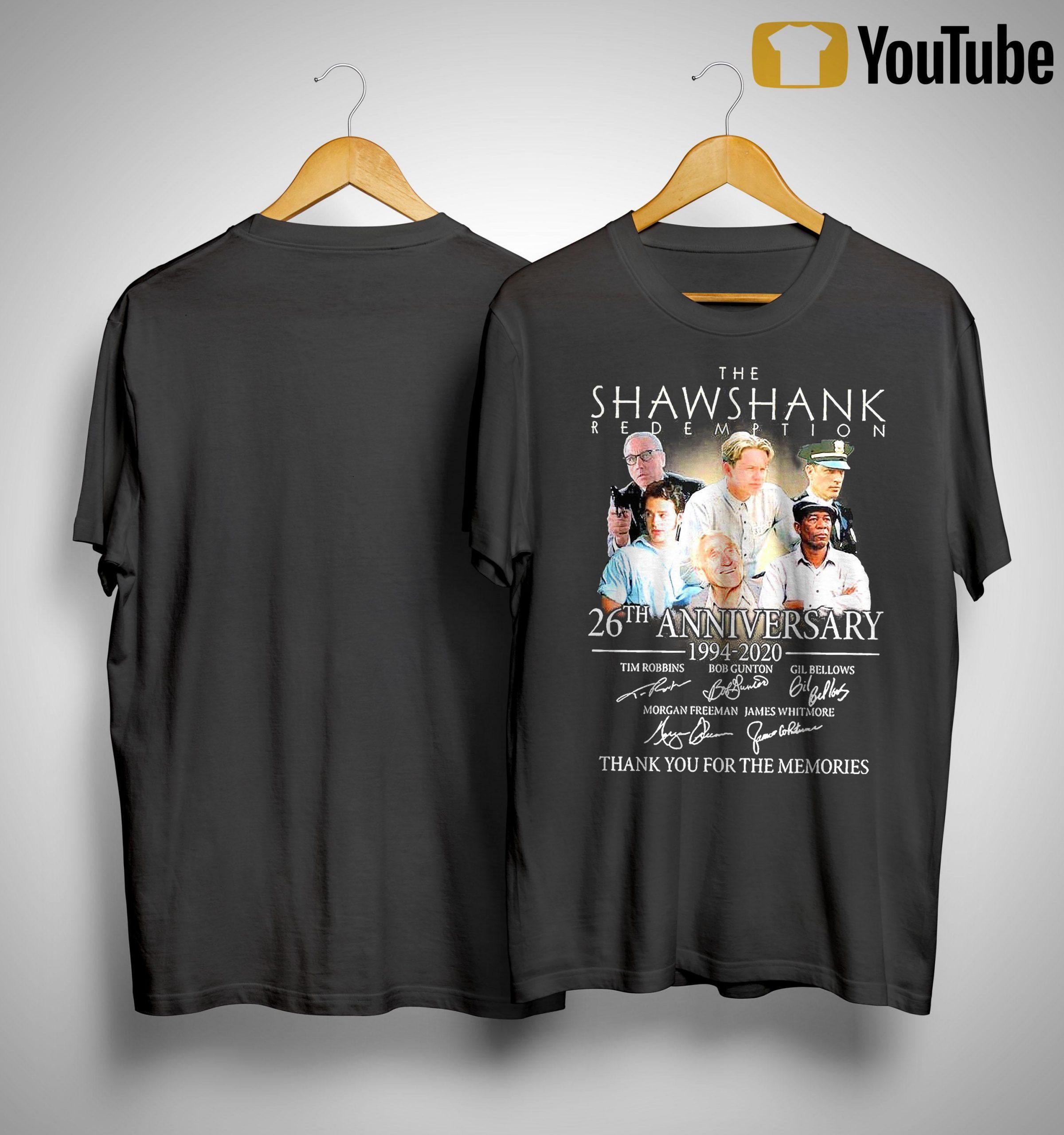 The Shawshank Redemption 26th Anniversary 1994 2020 Signature Shirt