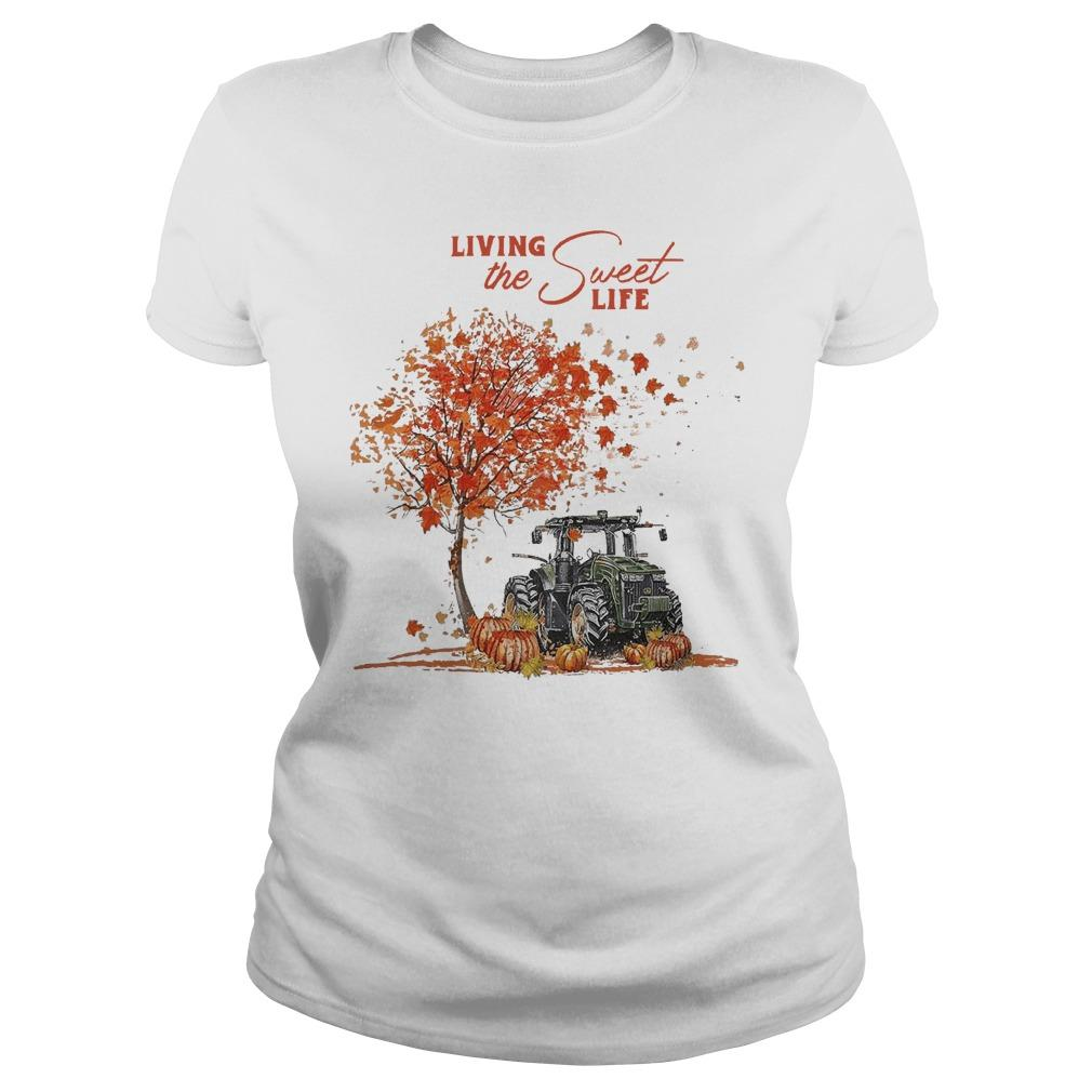 Tractor Autumn Living The Sweet Life Longsleeve