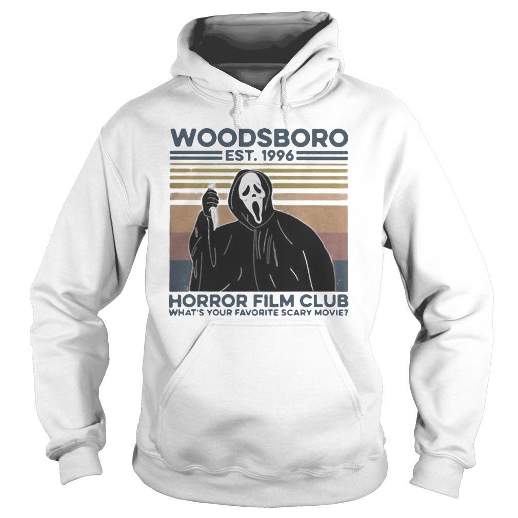 Vintage Ghost Woodsboro Est 1996 Horror Film Club Hoodie