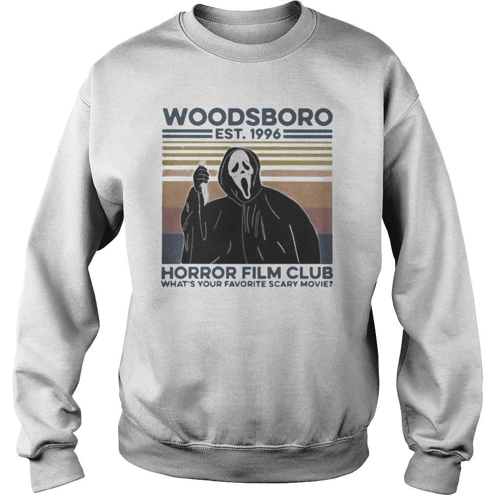 Vintage Ghost Woodsboro Est 1996 Horror Film Club Sweater
