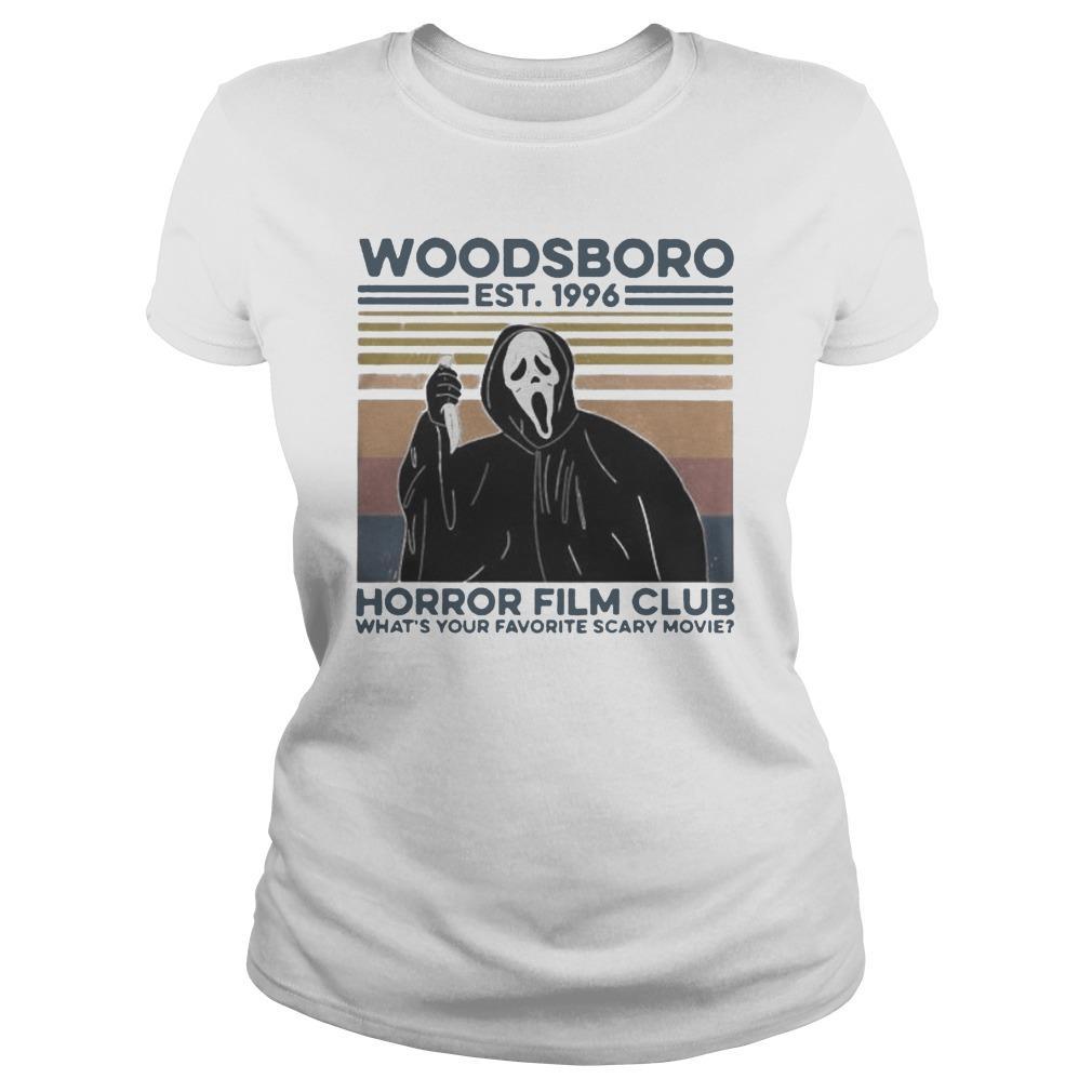 Vintage Ghost Woodsboro Est 1996 Horror Film Club Tank Top