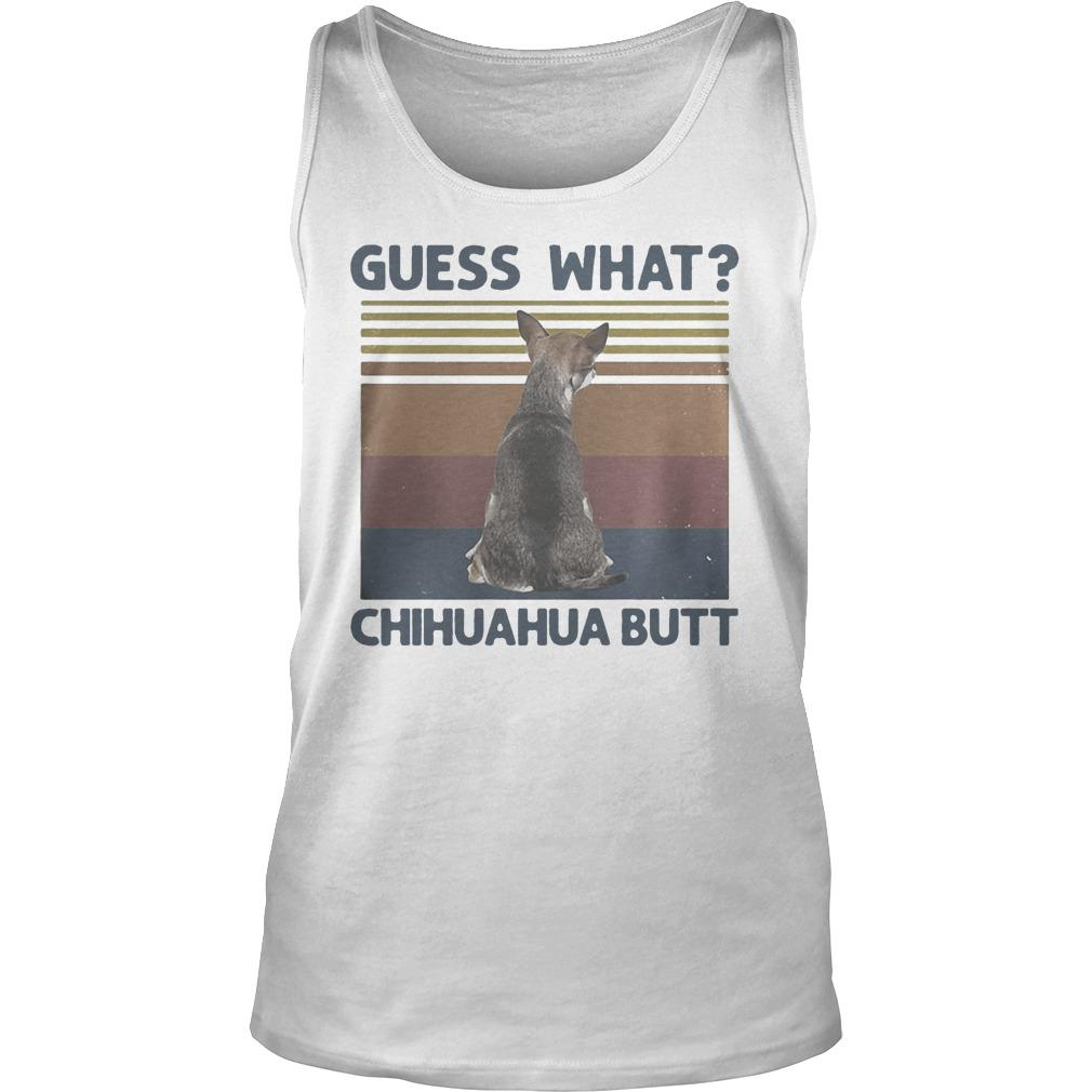 Vintage Guess What Chihuahua Butt Tank Top