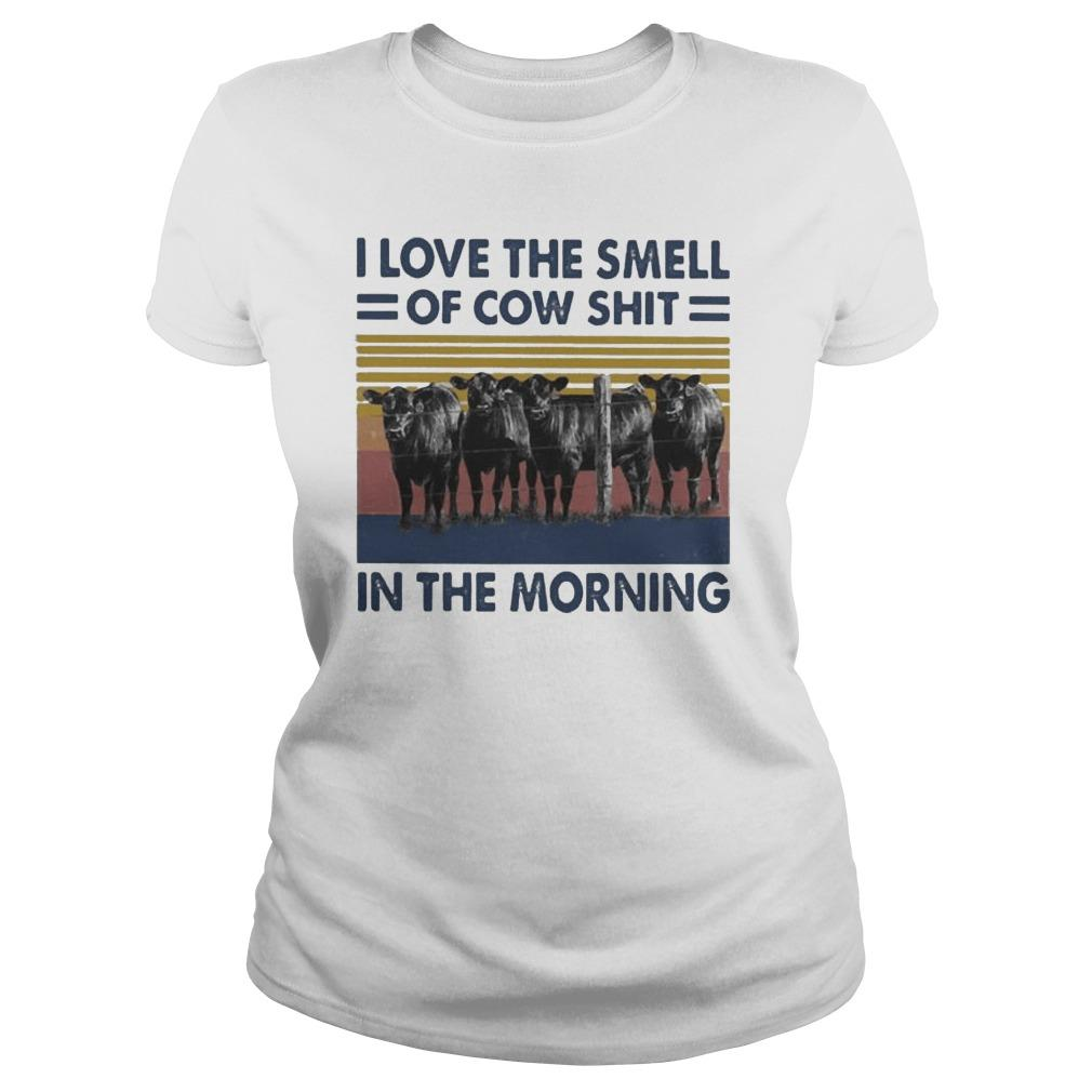 Vintage I Love The Smell Of Cow Shit In The Morning Longsleeve