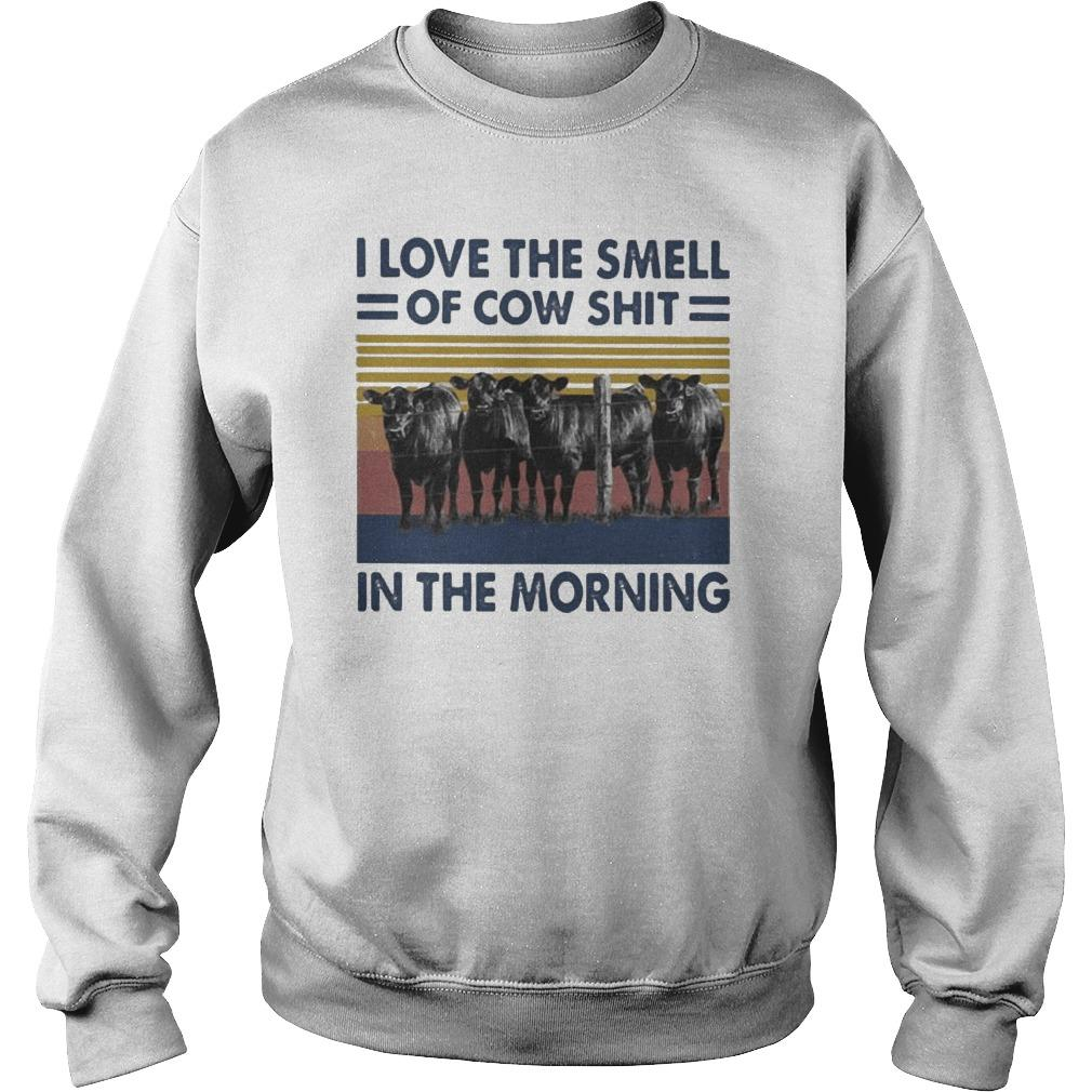Vintage I Love The Smell Of Cow Shit In The Morning Sweater