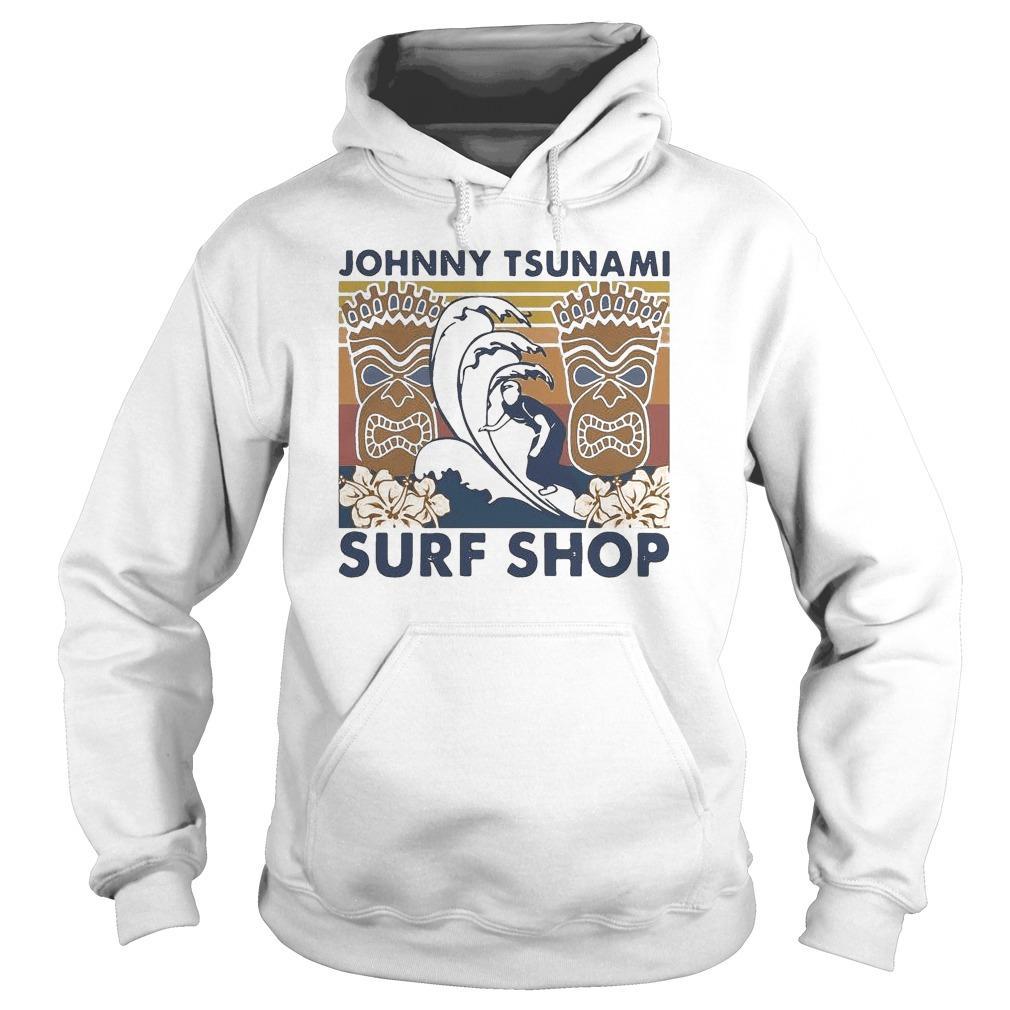 Vintage Surfing Johnny Tsunami Surf Shop Hoodie